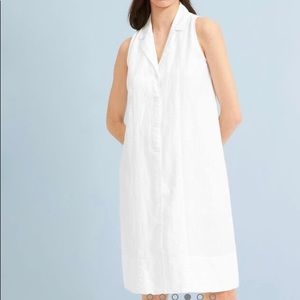 Everlane Linen Sleeveless Shirtdress